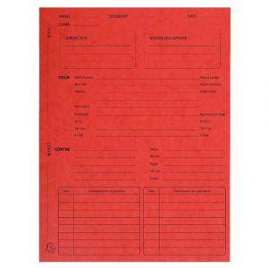 Exacompta 445105E - Paquet de 25 dossiers de suivi de procédure, en carte 265 g/m², coloris rouge