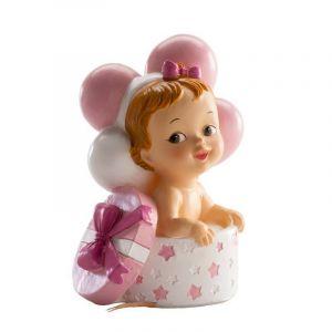 Image de Dekora Figurine Topper pour Le gâteau, Petite Fille comme Cadeau pour Le baptême ou la Naissance, en résine