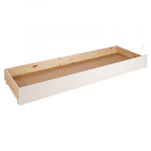 PINO Tiroir de lit contemporain en bois pin m if blanc l 64 cm