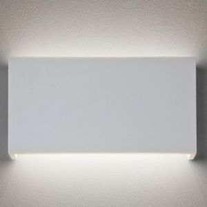 Astro Applique rectangulaire Rio 325 LED plâtre 2700K H18 cm - Blanc