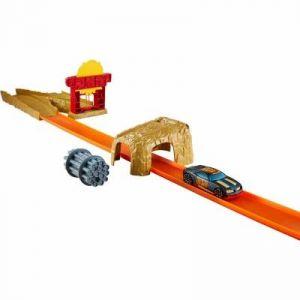 Mattel Hot Wheels : Piste à propulsion bulldozer et voiture
