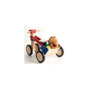 Pintoy Tricycle en bois rouge et bleu