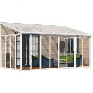 Palram Habitat et jardin Véranda San Remo - 3 x 4.25 m - Blanc
