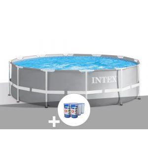 Intex Kit piscine tubulaire Prism Frame ronde 3,66 x 0,99 m + 6 cartouches de filtration