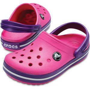 Crocs Crocband Clog, Sabots Mixte Enfant - Rose (Paradise Pink/Amethyst), 33-34 EU (J2 UK)