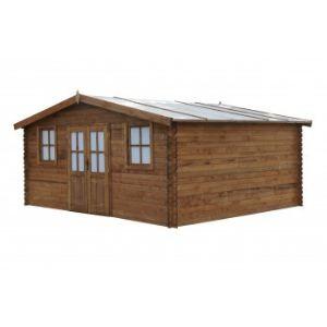 Chalet et Jardin Le Chardon - Abri de jardin en bois traité 28 mm 17,20 m2
