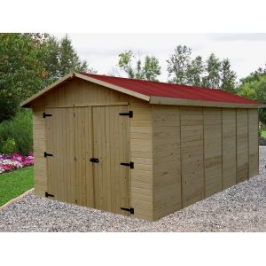Habrita ED2848N - Garage panneaux 16 mm surface ext. 15,60 m²
