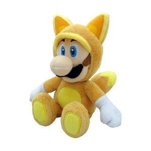 Peluche Mario Fox : Luigi (21 cm)