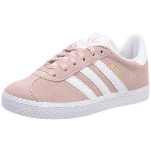 Adidas Gazelle J, Chaussures de Fitness Mixte Enfant, Rose (Roshel/Ftwbla/Dormet 000), 38 EU