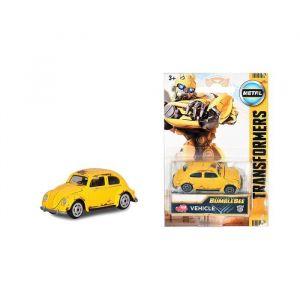Majorette TRANSFORMERS M6 Bumblebee X1 Blister - Véhicule en métal, échelle 1/64ème, issu du film Transformers : Bumblebee.