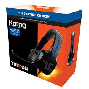 Tritton KAMA Kits PS4/ PS Vita Oreillette Casque Arceau Tête Connecteur(s):Jack 3,5 mm