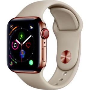 Apple Montre connectée Watch 40MM Acier Or/Gris sable Series 4 Cell