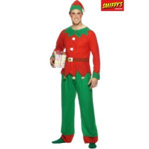 Smiffy's Déguisement elfe homme Noël (taille M, L ou XL)