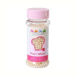 Image de FunCakes Perles de sucre - blanc nacré - 80g