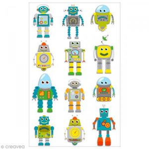 Maildor Stickers 3D Cooky robots x 12
