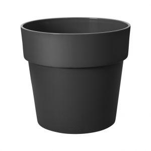 Cache-pot B.for original ronde Ø 22 x 20,3 cm Polypropylène injecté Noir