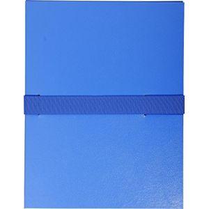 Exacompta Chemise à sangle velcro avec rabat Bleu marine