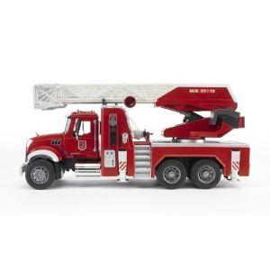 Bruder Toys Camion de pompier Mack avec échelle et pompe à eau