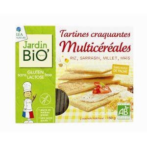 Jardin Bio Tartines craquantes multicéréales au cacao sans gluten