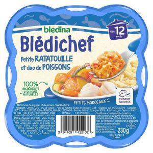 Blédina BLEDICHEF Ratatouille et duo de poissons 230g