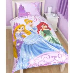 Princesse Disney - Housse de couette et taie (135 x 200 cm)