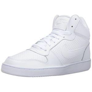 Nike WMNS Court Borough Mid, Chaussures de Sport-Basketball Fille, Blanc (Blanc/Blanc/Blanc), 36.5 EU