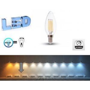 V-TAC Ampoule LED E14 4W filament blanc chaud -