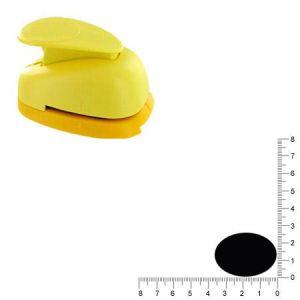 Artémio VIHCP923 Grande perforatrice à Levier 3,5 cm Ovale 2,4 cm, Plastique, Multicolore, 9,6 x 6,5 x 16 cm