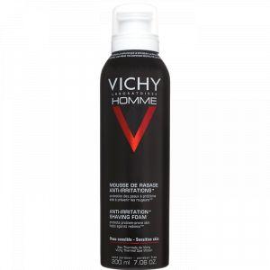 Vichy Homme - Mousse de rasage anti-irritations pour peaux sensibles 200 ml
