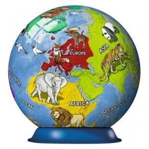 Ravensburger Puzzle Ball 3D - Mappemonde pour Enfant