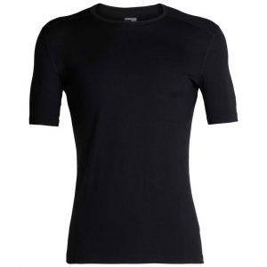 Icebreaker 200 Oasis S/S Crewe - Sous-vêtement mérinos taille S, noir