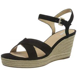 Geox Sandales Sandale Soleil - Couleur 36,37,38 - Taille Noir