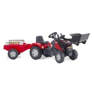 Falk Tracteur à pédales Case IH avec remorque et pelle