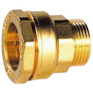 sferaco Raccord PE eau laiton serrage ext M 27 20x27 -