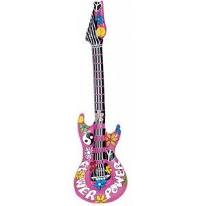 Guitare rock gonflable rose flower