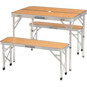 Easy Camp Jeu de table pliante et banc 3 pcs Marle Bambou 540021