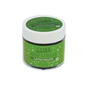 Aladine Poudre à embosser - Vert pailleté - 25 ml
