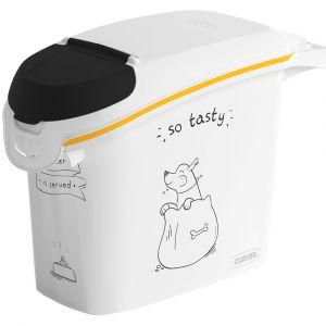 Image de Curver Conteneur de nourriture Le Diner est servi - 6 kg - 15 L - Blanc et noir - Pour chien