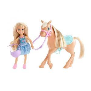 Mattel Poupée Barbie Chelsea et son poney