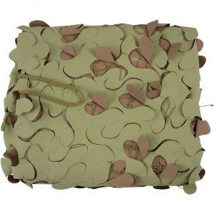 Filet de camouflage désert ignifugé 1,5 x 10 mètres OVIALA