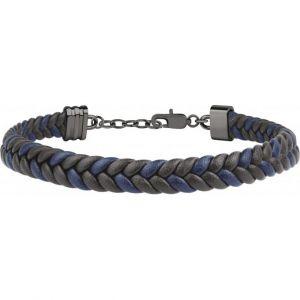 Maserati Bracelet Bijoux JM418ANI05 - Bracelet Cuir Noir Homme