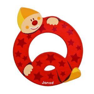 Janod Lettre clown en bois : Q
