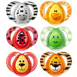 Tommee tippee 43335872 - 2 sucettes Fun en silicone (6-18 mois)