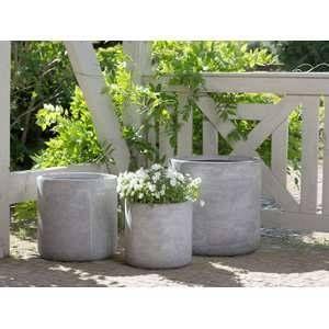 Beliani 3 cache-pots gris Messene