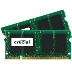 Crucial CT2KIT12864AC800 - Barrettes mémoire 2 x 1 Go DDR2 800 MHz 200 broches