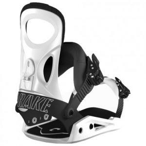 Drake King White Fixations snowboard