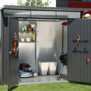 Biohort AvantGarde XL - Abri de jardin en métal 7,80 m2