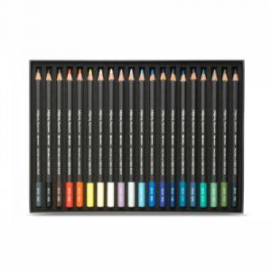 Caran d'Ache Museum Aquarelle Lot de 24 crayons aquarelle de qualité extra fine - Couleurs assorties