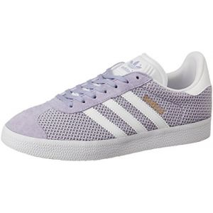 Adidas Gazelle, Baskets Basses Femme, Violet (Easy Purple/Footwear White/Easy Purple), 36 2/3 EU