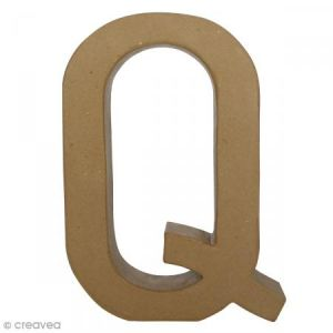 decopatch Lettre fantaisie «Q» - papier mâché